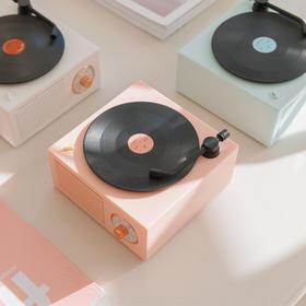 【当复古遇上流行】原子蓝牙音箱 复古黑胶口袋音箱 送礼神器