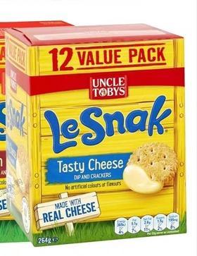 澳洲CostcoUncle Tobys LeSnak托比叔叔芝士饼干咸味 共36小包792g