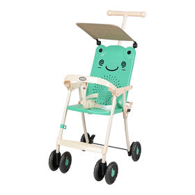 宝宝好  轻便可折叠婴幼儿手推车 绿色/粉色