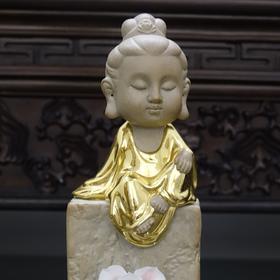 西方三圣贴金佛像摆件 藏心/藏思/藏宝