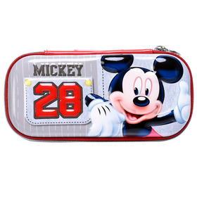 迪士尼儿童笔袋米奇文具盒多功能中小学生PU铅笔盒文具用品时尚创意笔袋NW5571
