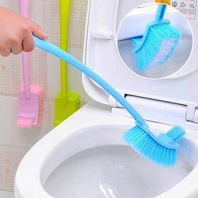 双面马桶刷卫生间长柄厕所刷浴室无死角清洁3把刷坐便器刷子