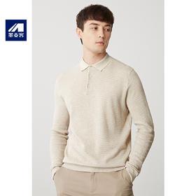 墨麦客男装2019秋季新款长袖T恤薄款翻领青年纯棉针织POLO衫2262