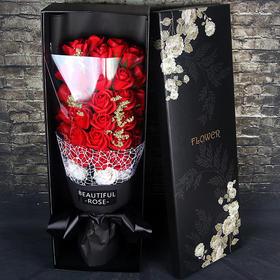 七夕情人节生日礼物新香皂花33朵玫瑰花束肥皂花礼盒仿真玫瑰创意+90积分