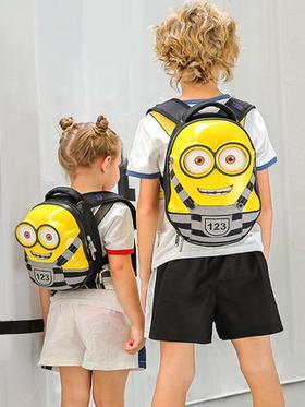 小黄人儿童书包幼儿园宝宝入园男童3岁5岁女蛋壳双肩包男小孩硬壳背包