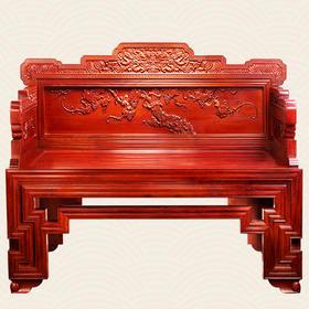 故宫监制家具 框漆百宝嵌葡萄纹沙发