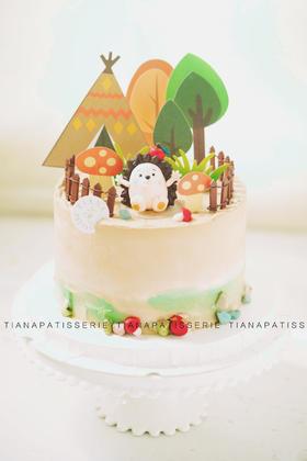 小刺猬 奶油蛋糕