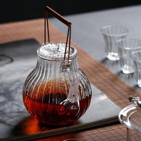 耐高温玻璃茶壶煮茶壶器铜柄提梁泡茶壶电陶炉功夫茶具家用