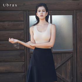 Ubras一体式长款背心 舒适无痕内衣女无钢圈光面文胸 春夏款CRVC