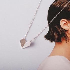 心语系列  折叠的心时尚贝母套链