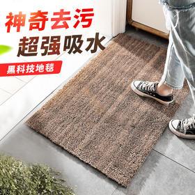 鞋底污泥瞬间被吸干!地板一点不脏  黑科技纳米地毯,美国畅销!