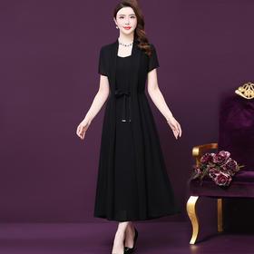 WXY1924新款流行时尚纯色真丝连衣裙TZF