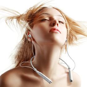 REMAX RB-S6项圈颈挂式蓝牙耳机  无线挂脖头戴运动跑步便携立体声重低音通用有线控耳机