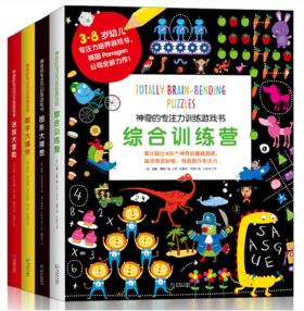 神奇的专注力训练游戏书 一套4本