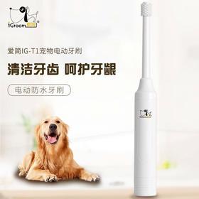 喜归 | 爱简igroom宠物电动牙刷T1旋转式软毛刷猫狗口腔清洁工具去口臭牙石