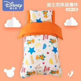 迪士尼宝宝幼儿园床品六件套含芯婴儿被子三件套纯棉儿童床单被套