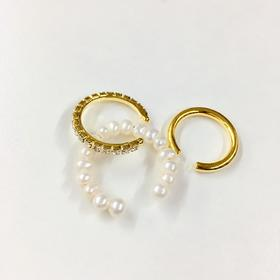 ucalypt  珍珠多用途开口戒指组合