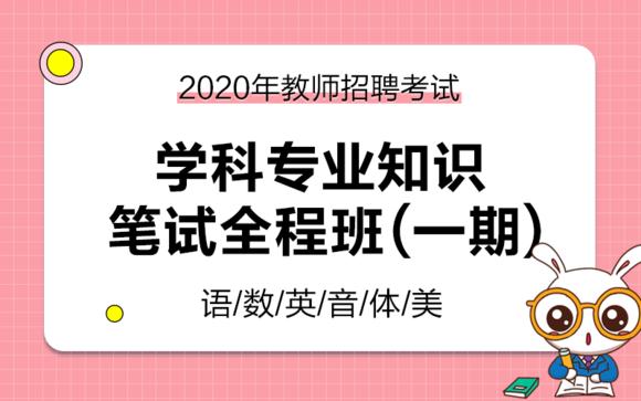 2020年教师招聘笔试 学科笔试全程班(一期)