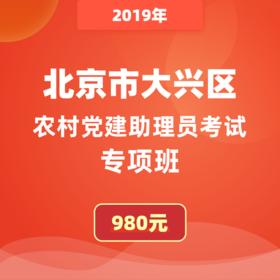 2019年北京市大興區農村黨建助理員考試專項班