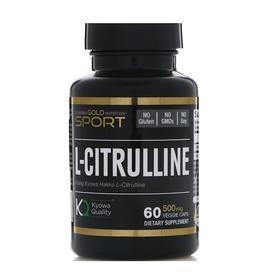 California Gold Nutrition, 运动,L-瓜氨酸,500毫克,60粒素食胶囊
