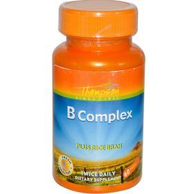 Thompson, 复合维生素B,加米糠,60片