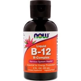 Now Foods  液体B-12,复合维生素B,2液量盎司(59毫升)