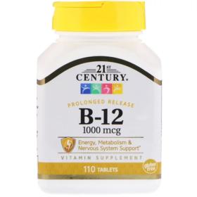21st Century, 维生素B-12,1000微克,110片