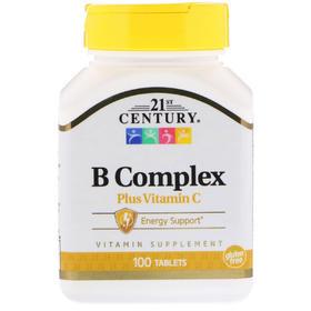 21st Century  B 族维生素加维生素 C,100 片