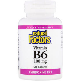Natural Factors  维生素B6吡哆醇,100毫克,90片