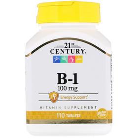 21st Century, 维生素 B-1,100 毫克,110 片