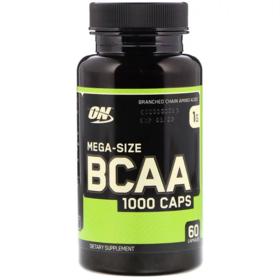 Optimum Nutrition, BCAA 1000 胶囊,超大型,1克,60粒