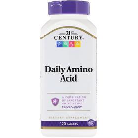 21st Century, 每日氨基酸,最大强度,120 片