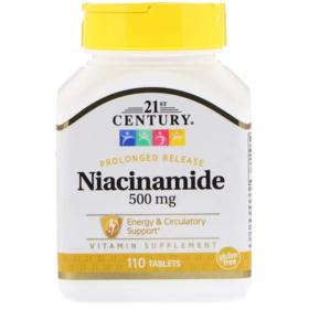 21st Century 烟酰胺,500毫克,110片