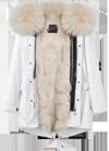 下单后25天发货 OZlana 2019 AU192040-AU192052 白色/灰色/粉色女款 狐狸毛大衣