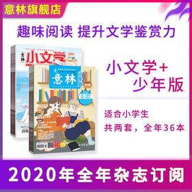 【意林杂志订阅】意林期刊 2020年 小文学+少年版 全年杂志订阅  1-12月全年订阅 官方正版包邮 官方旗舰店 预定