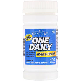 21st Century One Daily,男性健康维生素片,100片