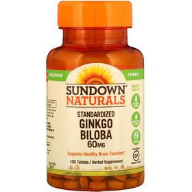 Sundown Naturals 标准化银杏,60 毫克,100 片
