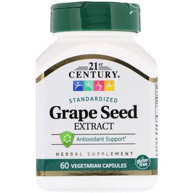 21st Century 葡萄籽提取物,60粒素食胶囊
