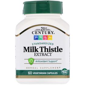 21st Century 奶蓟提取物素食胶囊,60粒