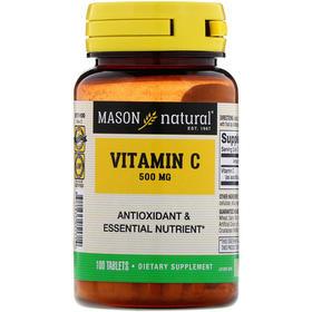 Mason Natural  维生素C,500毫克,100片