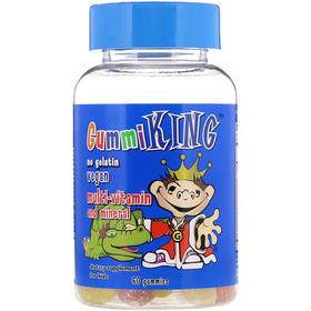 GummiKing 儿童专用综合维生素和矿物质软糖,60粒