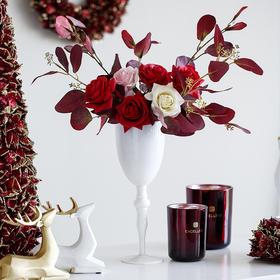 米子家居 ins简约创意玫瑰花摆件假花仿真花客厅卧室花艺品摆件