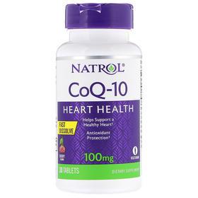 Natrol 辅酶 Q10,快速溶解,樱桃味,100 毫克,30 片