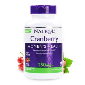 Natrol 蔓越莓,速溶片,蔓越莓味,250 毫克,120 片