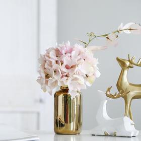 米子家居 北欧创意绣球假花花艺卧室客厅餐桌简约仿真花摆件花束