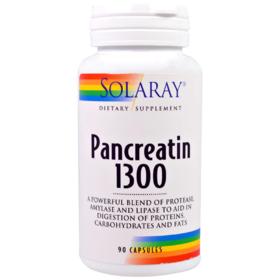 Solaray 胰酶1300,90粒胶囊
