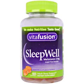 VitaFusion 睡得好,成人睡眠支持,60颗软糖