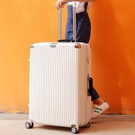 NTNL行李箱ins网红密码箱20寸万向轮旅行箱男24韩版 经典竖条拉杆箱女
