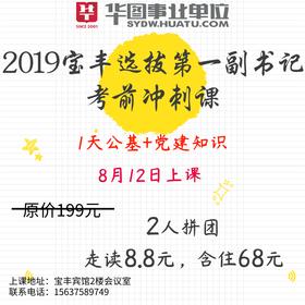 2019宝丰选拔第一副书记考前冲刺课