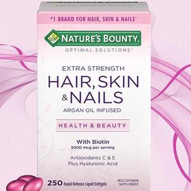 Nature's Bounty 头发、皮肤及指甲,60 粒包衣片
